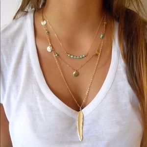 Jewelry - Silver or Gold -Multi Strand Necklace Layered